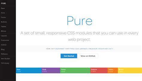 yahoo pure layout best web designing frameworks for 2014