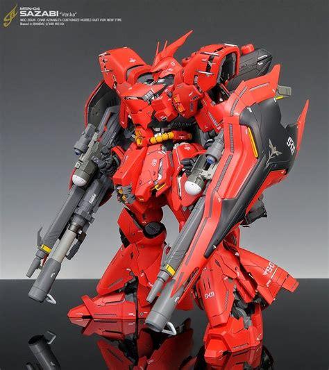 Kaos Gundam Gundam Mobile Suit 16 mg 1 100 sazabi ver ka customized build mechs