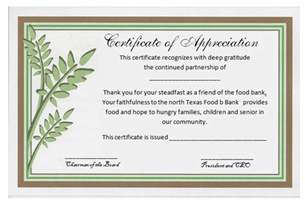 template for appreciation certificate certificate of appreciation sle free certificate