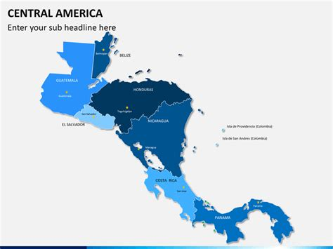 map and central america central america map powerpoint sketchbubble