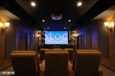 home theater room stock photo  pictures  color