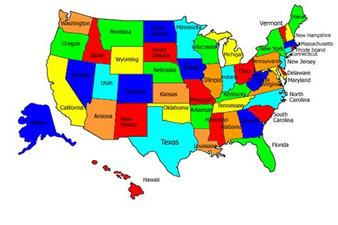 show me the map of the united states of america links to official state travel websites