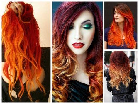 colores para el pelo 60 fotos tinte rojo fuego c 243 mo conseguir el efecto llama en el