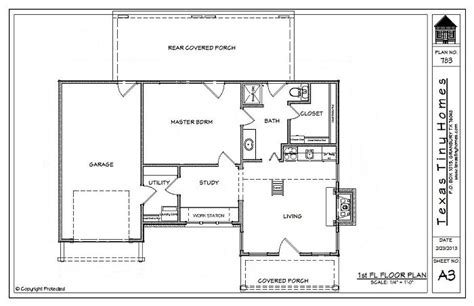 Texas Home Builders Floor Plans | plan 783 texas tiny homes