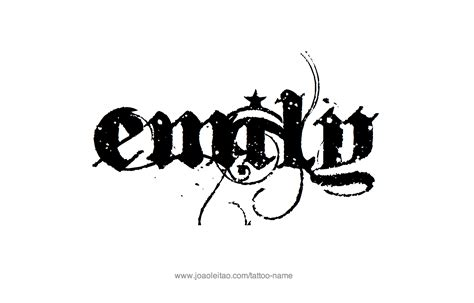 emily tattoo emily name designs