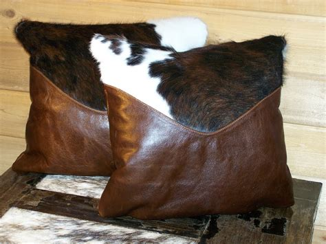Western Cowhide Pillows - h m valley ranch store western decor cowhide and leather