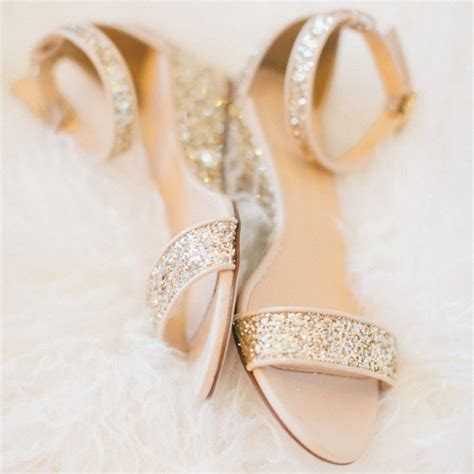 Bridal Wedge Sandals by Golden Glitter Bridal Sandals Open Toe Wedge Heels Ankle