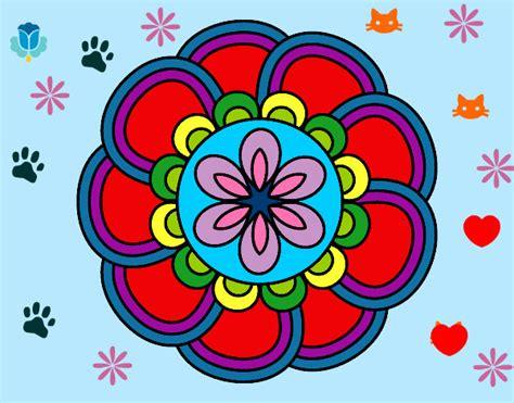 imagenes de mandalas faciles pintados dibujo de alegr 237 a y creatividad pintado por malu2453 en