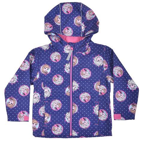 Mo37 Jacket Frozen Blue disney frozen blue hooded winter jacket pink fleece lining adjust cuffs ebay