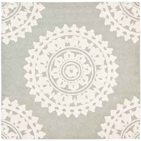 square rug safavieh soho light grey ivory 10 ft x 10 ft square area