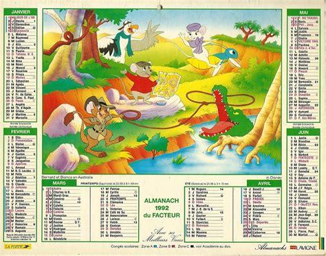 Calendrier De 1992 Walt Disney Para Bd Calendrier