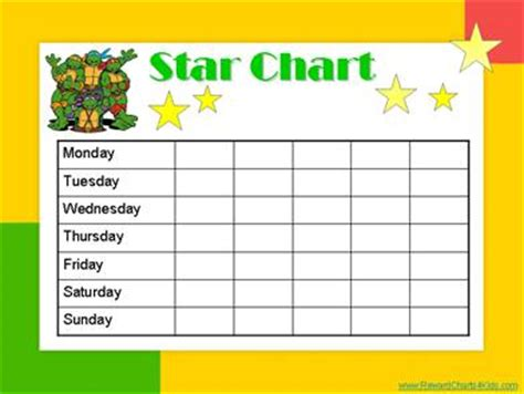 childrens reward chart calendar template 2016