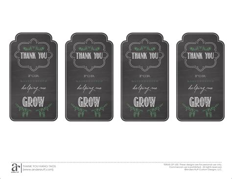 printable teacher thank you gift tags ruff draft end of the year teacher gift and free