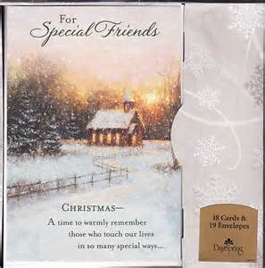 Special friends christmas greeting card