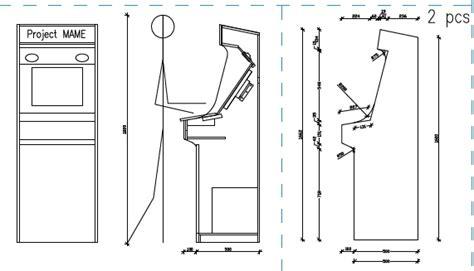 Pacman Cabinet Plans by Arcade Cabinet Mame Kegerator Karaoke