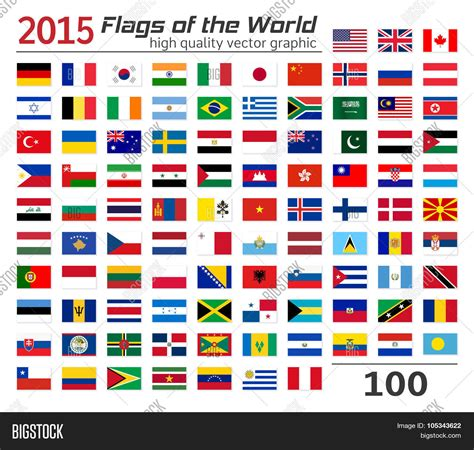 flags of the world large images set flags different countries vector photo bigstock