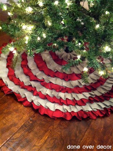 a painted nest diy ruffle tree skirt