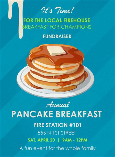 pancake breakfast ticket template pancake breakfast invitation