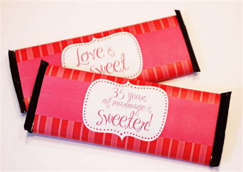 anniversary chocolate bar wrapper printable repeat