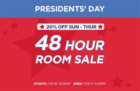 rooms to go presidents day sale presidents day 48 room sale resorts atlantic city