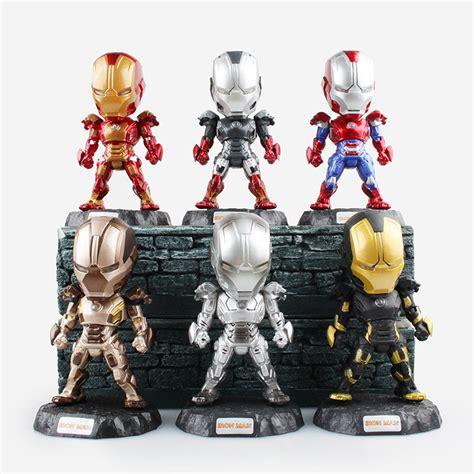 Movie Figure 11 5cm 6pcs Set Iron Man Figures With Led Lighted Figures