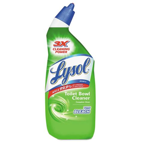 bathroom cleaners with bleach lysol 174 toilet bowl cleaner with bleach