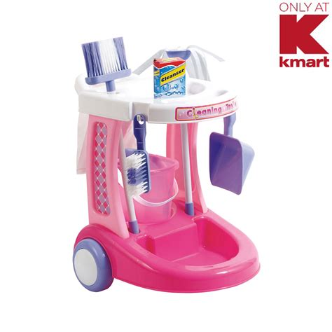 Promo Mainan Edukasi Cleaning Set Box just kidz my cleaning trolley toys pretend play dress up kitchen housekeeping