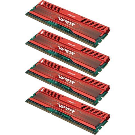 Ram 4gb Venom patriot viper 3 16gb 4 x 4gb ddr3 cl9 1866 mhz pv316g186c9qkrd