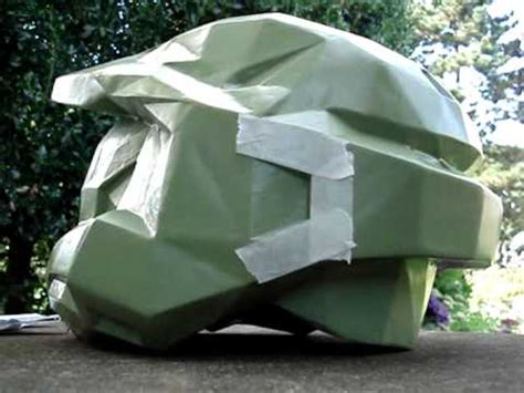 How To Make A Master Chief Helmet Out Of Paper - master chief helmet how to make your own step by step