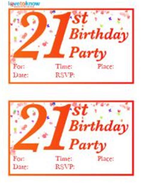 Free Printable 21st Birthday Invitations Lovetoknow 21st Birthday Card Templates Free