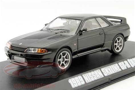 nissan skyline 2015 black ck modelcars 86229 nissan skyline gt r r32 fast and