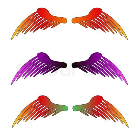 colored wings vector bird multi colored wings illustration stock