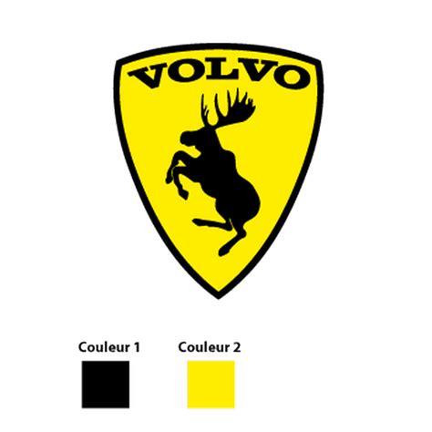 Volvo Moose Sticker volvo prancing moose logo decal