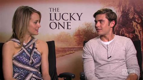 zac efron and taylor schilling the lucky one interview the lucky one zac efron and taylor schilling raw
