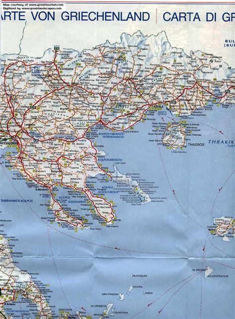 printable road map of greece road map of greece halkidiki
