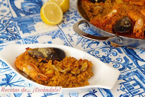 recetas de cocina paella de marisco paella de marisco receta paso a paso recetas de 161 esc 225 ndalo