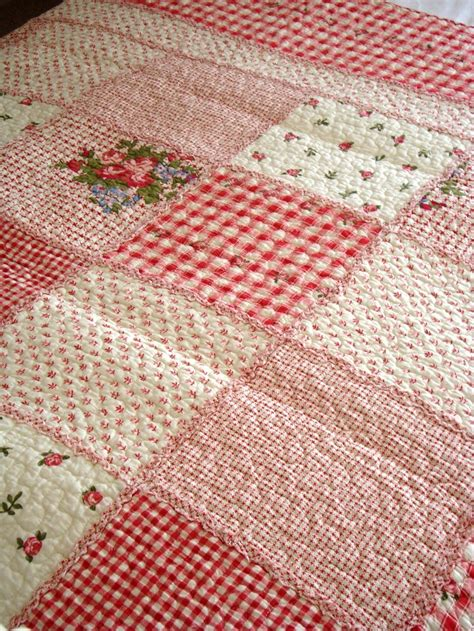 Floral Patchwork Quilt - country style pale floral patchwork quilt bedspread