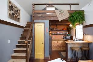 this rustic modern tiny house portland oregon built cozy loft white painted interior small homes one room plans