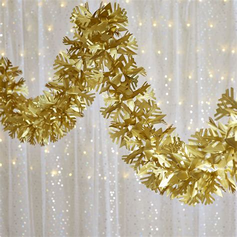 wilko christmas foil garland gold 2 7m deal at wilko