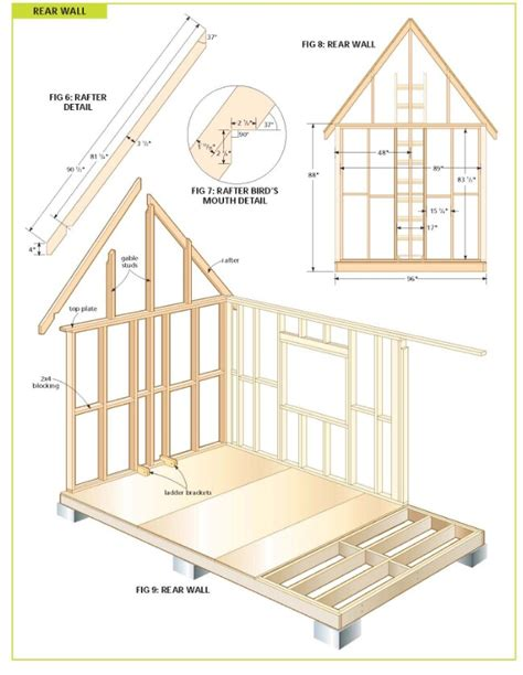 Free Cabin Blueprints by Completely Free 108 Sq Ft Cottage Wood Cabin Plans