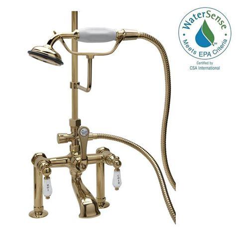 elizabethan classics rm23 3 handle claw foot tub faucet