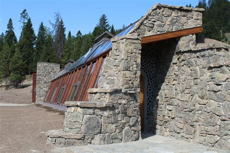Adobe Style House Plans big sky solar powered stone earthship is off grid living