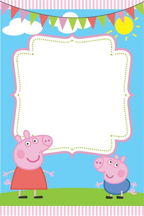 peppa pig thank you card template make peppa pig birthday invitations all invitations ideas