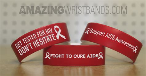 aids awareness color color bracelets to raise aids awareness support