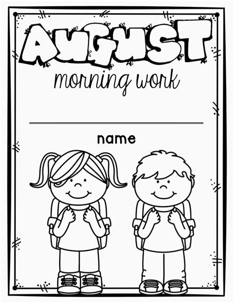 Work For Kindergarten Worksheets by Kindergarten Morning Work Miss Kindergarten