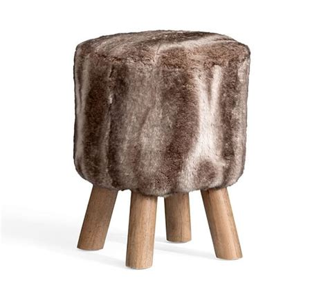Pottery Barn Faux Fur Stool by Faux Fur Stool Pottery Barn