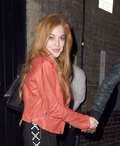 Lindsay Lohan Out by Lindsay Lohan Out Style Leaving The Chiltern