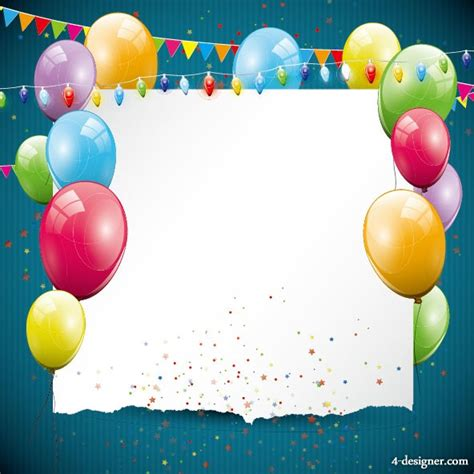 balloon card template 4 designer the balloon card 03 vector material