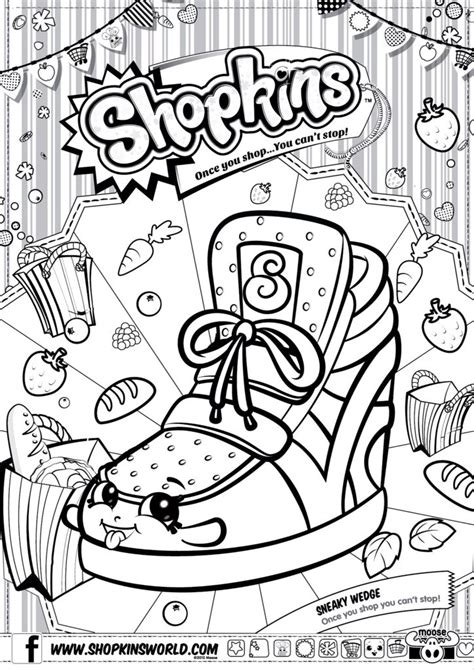 coloring pages printable shopkins shopkins colour color page sneaky wedge shopkinsworld