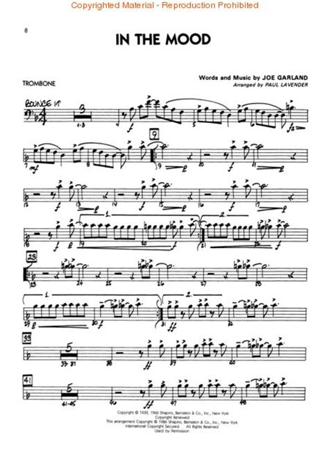 in the mood swing song sheet music in the mood swing accordion